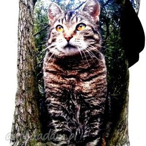 torba na napę z kotem, torba, kot, xxl, pojemna ramię, świąteczny prezent