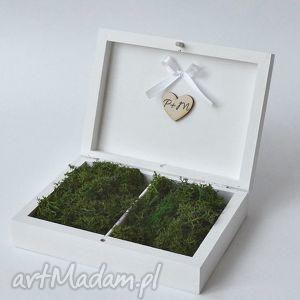 pudełko na obrączki ślubne rustykalne, pudełkonaobrączki, naturalne, prezent, ślub