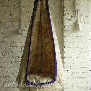 huśtawka kokon pokojowa ogrodowa hand made unikatowa 100 naturalna udźwig 120 kg
