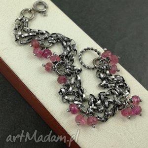 bransoletki turmalin różowy bransoletka, biżuteria