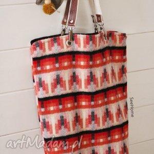 hand-made na ramię wełniana torba