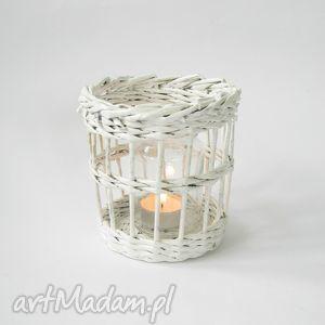 świeczniki biały lampion, lampion dom