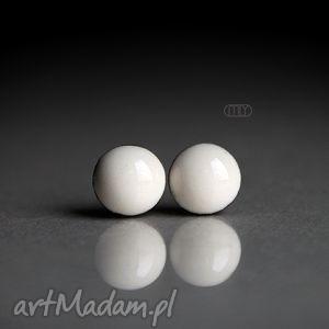 Mini Milky 6mm, mini, okrągłe, szkliwione, ceramika, kamionka, sztyfty