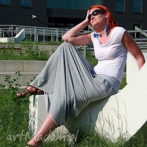 spódnica dresowa maxi bawełna szara lub grafit , spódnica, dresowa, dresówka