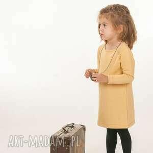 musztardowy look - dziewczynka, sukienka, musztardowa, elegancka