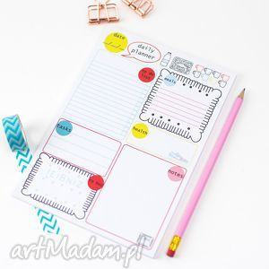 planer dzienny, notes a5 z planem dnia, 50 kartek, planer, notes, lista, planowanie