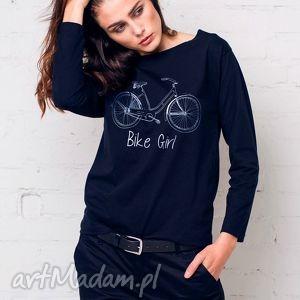 bike girl bluzka oversize, bluzka, longsleeve, bawełna, casual, moda