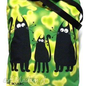 na ramię torba napę z kotami, koty, torba, pojemna torebki, pod choinkę prezent