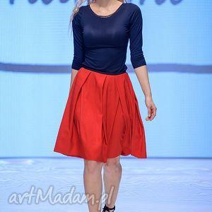 spódnice spódnica czerwona midi rosso, spódnica, czerwona, impreza, party, wiosna
