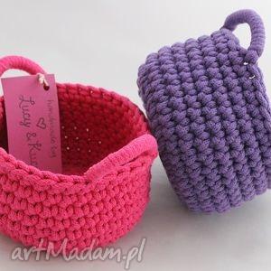 pudełka kosz violet, kosz, koszyczek, pudełko, drobiazgi, przechowywanie, szydełko