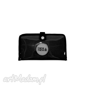 Portfel Mana #3, portfel, czarny, folia, manamana, handmade