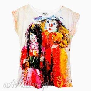 artego artystyczny t-shirt damski - clown wysoka jakość wykonania , modna, bluzka