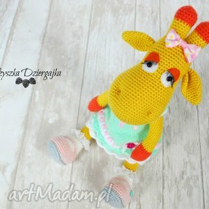 Prezent Żyrafa Gusia szydełkowa przytulanka, maskotka, prezent