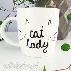 kubki kubek cat lady, cat, kubek, kot, kotek, malowany dom