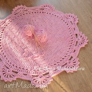 Dywan Bawełniany koronka 120cm ze sznurka - Kolorowa Manufaktura , dywan, dziewczynka