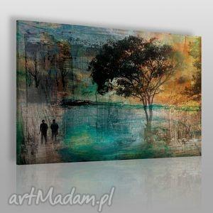 obraz na płótnie - drzewo romantyczny 120x80 cm 11701 , drzewo, para