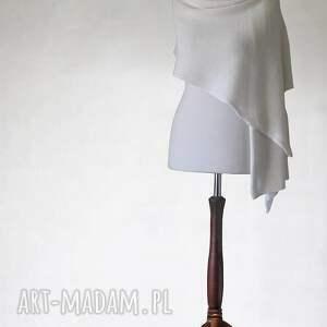 knitwear factory szal z wełny merino superwash, szal, etola, dzianina, ślub