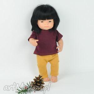 ubranka dla minialnd, legginsy t-shirt, lalki