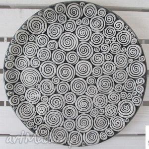 oryginalny prezent, ceramika ana patera w ślimaczki, talerz, ceramiczny, ceramiczna