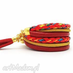 bransoletki red boho, bransoletki, zawijane, boho biżuteria, pod choinkę prezent