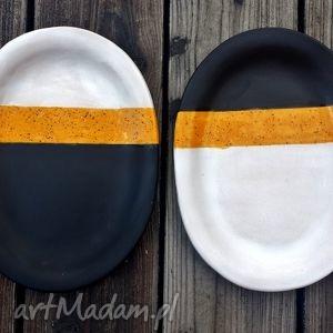 ceramika talerze tri colors, talerz, patera, talerzyki, zestaw, ceramiczny