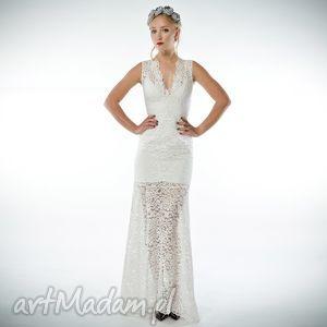Irena - koronkowa suknia ślubna/wieczorowa, koronkowa, suknia, ślubna