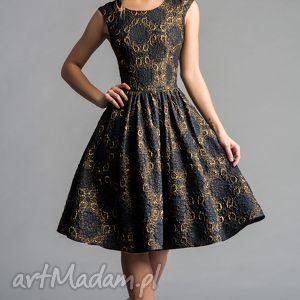 sukienki sukienka scarlett marszczona midi dolores ciemny granat