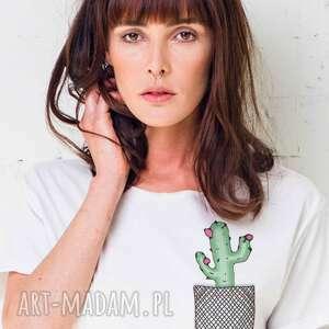 koszulki cactus in pocket oversize t-shirt, ubrania