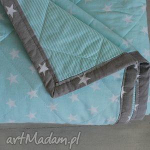 koce i narzuty narzuta szaro-miętowa 180 x 230 cm, narzuta, koc, kołdra, sypialnia