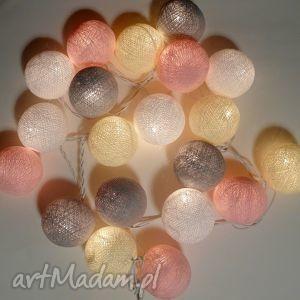 Qule Lampki Cotton Balls Light Łagodne Pastele, kule, lampki, cotton, balls, lights