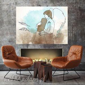 grafika anioł a4, grafika, ilustracja, dom