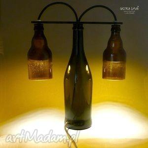 lampy prezent extra lampa z ręcznie ciętych butelek , unikat, handmade