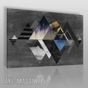 obraz na płótnie - abstrakcja góry 120x80 cm 19602 , abstrakcja, góry, trójkąty