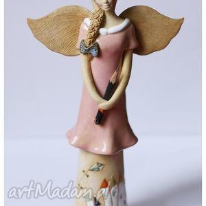ceramika anioł przedszkolanka, anioł, dom, święta prezent