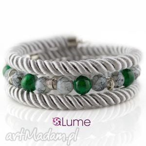 lume handmade bransoletka owijana sznurkowa gruba, bransoletka, sznurek