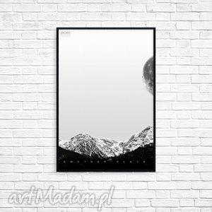 grafika another place r, grafika, obraz, góry, prezent, ramka, minimalizm, unikalny