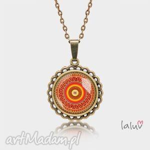 Prezent Medalion okrągły mały AZTECKA MANDALA, mandala, symbol, harmonia, zen