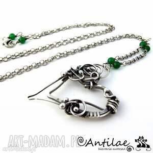 Sayatari - Agat, srebro, wisior, serce