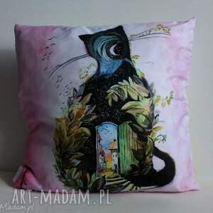 duża dekoracyjna poduszka koci świat 50x50cm, poduszka, kot, dekoracyjna, miękka