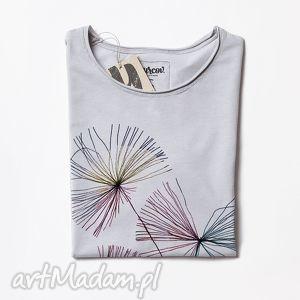 bluzki dandelions koszulka z krótkim rękawem, dmuchawce, dmuchawiec, druk, print