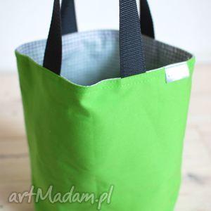 do ręki zielona kratka, krata, kanapki, prezent, śniadanie, lunch torebki