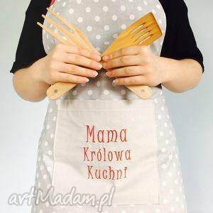 fartuch mama królowa kuchni, fartuch, mama, dlamamy, dzieńmamy, fartuszek, haft