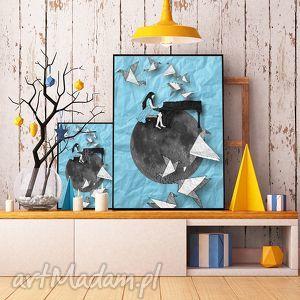 art print 30x40 cm , ilustracja, pianistka, plakat, obraz, a3 grafika dom