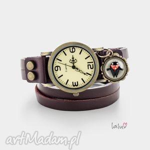 skórzany zegarek monster of love, miłość, potworek, urocze, serce, śmieszne, prezent