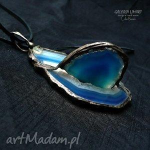 agat w kolorze indygo 3d wisior niezwykły, agat, ekskluzywny, handmade, efektowny