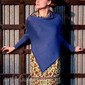 sweter-ponczo, sweter, poncho, wełna, art swetry ubrania