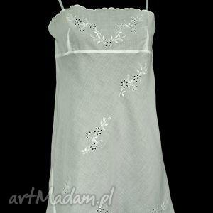bielizna koszulka - haleczka rozmiar 40, haft, ręczny, batyst ubrania