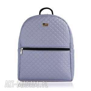 plecak damski 647 stalowy, plecak, damski, lekki, pojemny, wygodny torebki, pod