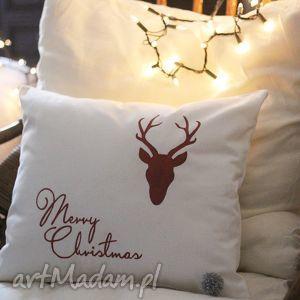świąteczna poszewka na poduszkę, pszewka, poduszka, zamek, świąteczna, dekoracja