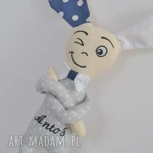 Prezent Miś Króliś Antoś - Spersonalizowany królik , miś, metryczka, imię, dziecko